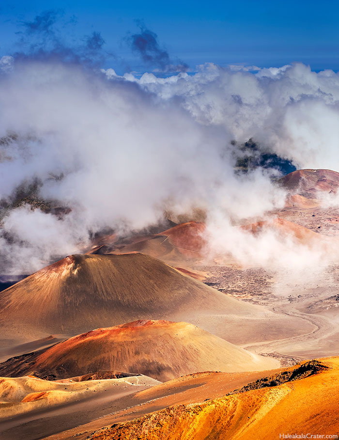 Haleakala crater clouds
